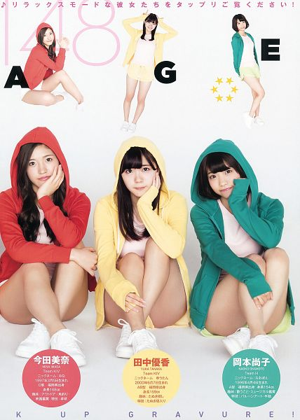 Tags: J-Pop, HKT48, Sneakers, Japanese Text, Shoes, Chin In Hand, Scan, Android/iPhone Wallpaper, Magazine Scan