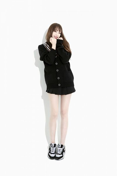 Tags: K-Pop, EXID, Hani, Sneakers, Collar (Clothes), Black Outfit, Black Dress, Sailor Collar, Shoes, Bare Legs, Black Footwear, Android/iPhone Wallpaper