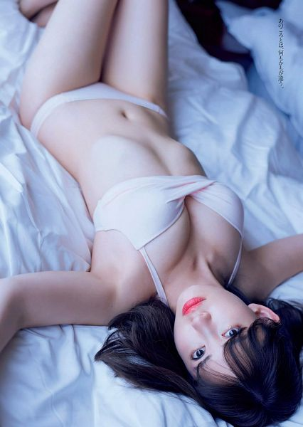 Tags: AKB48, Haruna Kojima, Bed, Bra, Midriff, Laying On Back, Laying Down, Suggestive, On Bed, Panties, Navel, Lingerie
