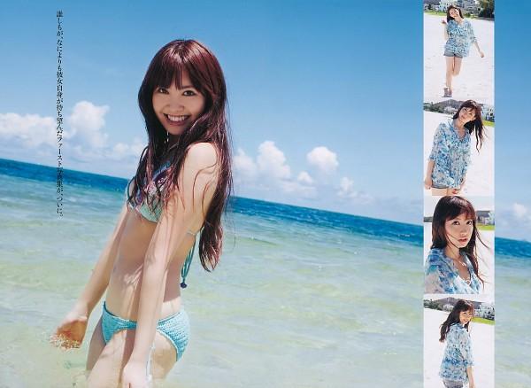 Tags: AKB48, Haruna Kojima, Suggestive, Midriff, Bikini, Navel, Wallpaper