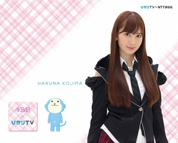 Tags: AKB48, Haruna Kojima, Tie, Japanese Text, School Uniform, Wallpaper