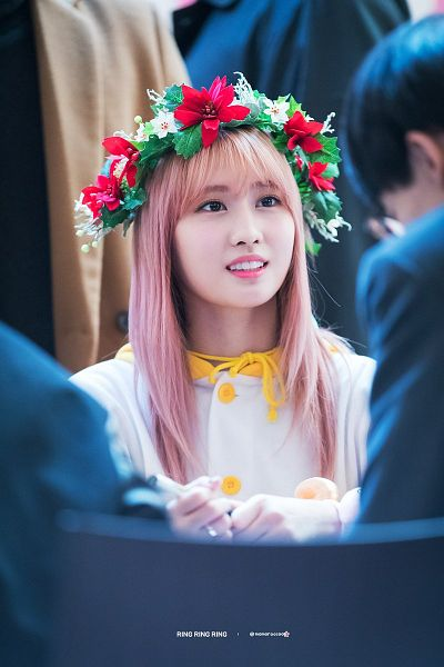 Tags: K-Pop, Twice, Hirai Momo, Flower Crown, Crown, Hair Ornament, Flower, Fansigning Event