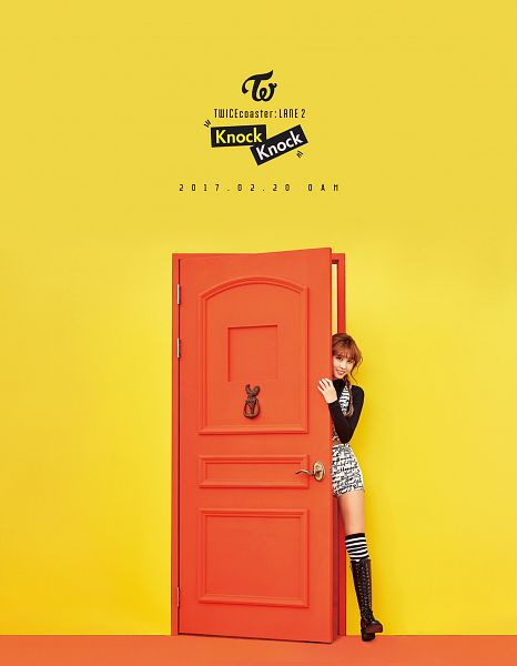 Tags: JYP Entertainment, K-Pop, Twice, Hirai Momo, Text: Song Title, Text: Calendar Date, Text: Artist Name, Text: Album Name, Android/iPhone Wallpaper, Twicecoaster: Lane 2