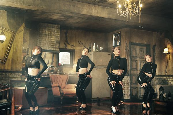 Tags: K-Pop, Miss A, Hush, Min, Bae Suzy, Wang Feifei, Meng Jia, Turtleneck, Black Pants, Full Group, Collar (Clothes), Quartet