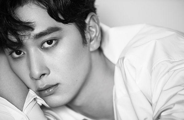 Tags: JYP Entertainment, K-Pop, 2PM, Hwang Chansung, Monochrome, Serious, Mole, Facial Mark