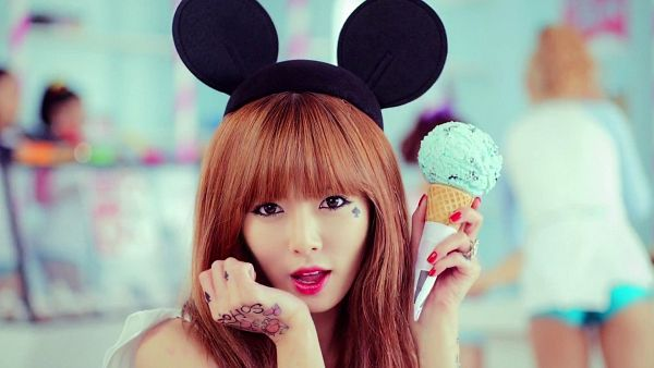 Tags: K-Pop, 4Minute, Ice Cream (Song), Hyuna, Animal Ears, Ice Cream, Sweets, HD Wallpaper, Wallpaper