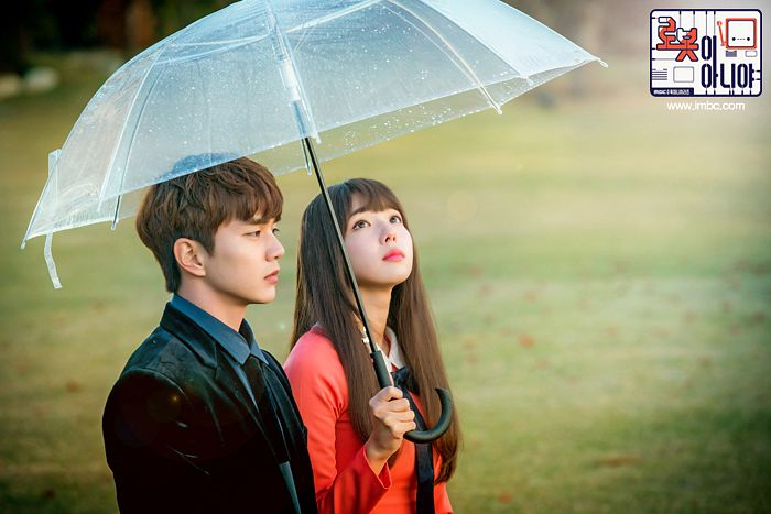 Tags: K-Drama, Chae Soo-bin, Yoo Seung-ho, Korean Text, Blue Shirt, Grass, Pink Outfit, Black Jacket, Black Outerwear, Umbrella, Pink Dress, Duo