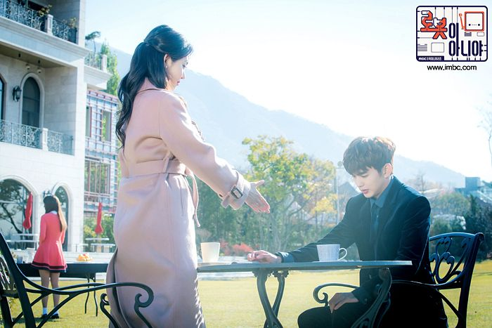 Tags: K-Drama, Yoo Seung-ho, Chae Soo-bin, Pink Outfit, Pink Dress, Plant, Tree, House, Chair, Blue Neckwear, Black Jacket, Black Outerwear