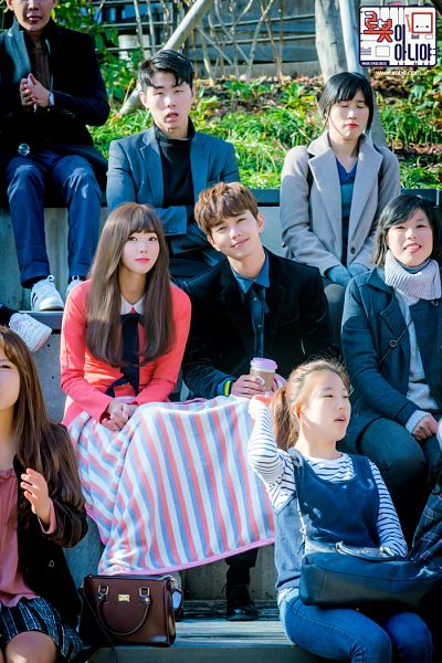 Tags: K-Drama, Chae Soo-bin, Yoo Seung-ho, Blanket, Duo, Blue Shirt, Text: Series Name, Head Tilt, Black Jacket, Korean Text, Pink Dress, Black Outerwear
