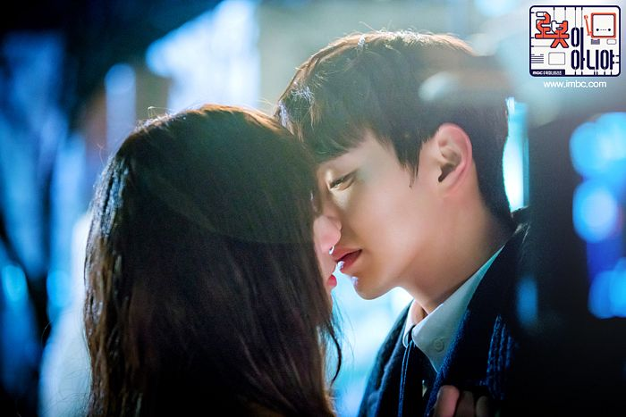 Tags: K-Drama, Chae Soo-bin, Yoo Seung-ho, Couple, Umbrella, Brown Outerwear, Duo, Almost Kiss, I'm Not a Robot