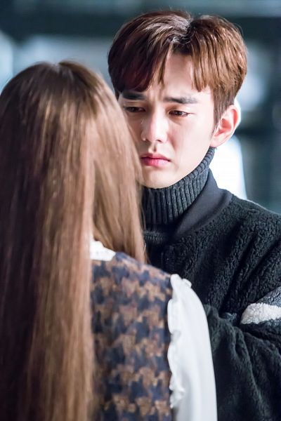 Tags: K-Drama, Yoo Seung-ho, Chae Soo-bin, Crying, Duo, Turtleneck, Collar (Clothes), Black Shirt, Couple, Looking At Another, Sweater, I'm Not a Robot