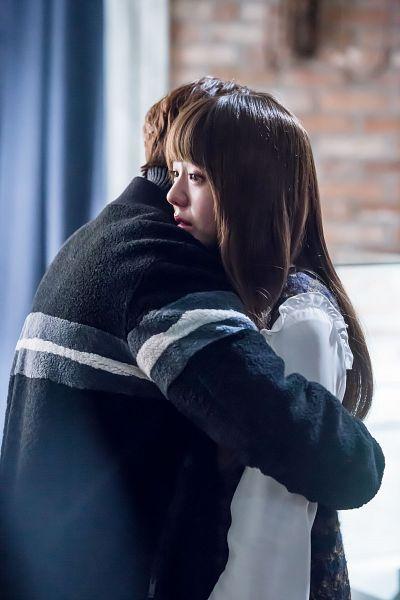 Tags: K-Drama, Chae Soo-bin, Yoo Seung-ho, Collar (Clothes), Couple, Hug, Sweater, Sad, Holding Close, Turtleneck, Duo, I'm Not a Robot