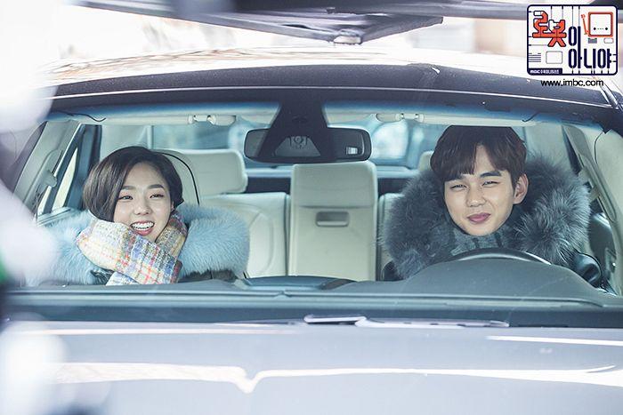 Tags: K-Drama, Yoo Seung-ho, Chae Soo-bin, Coat, Fur, Korean Text, Fur Trim, Scarf, Duo, In Car, Medium Hair, Text: Series Name