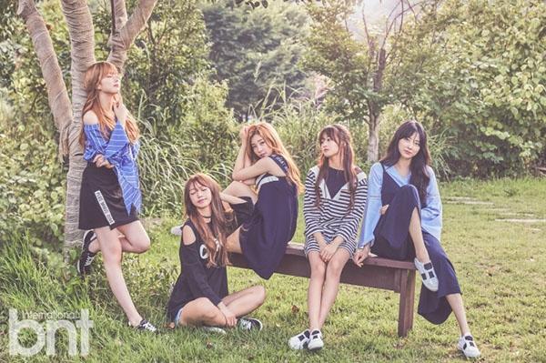 Tags: K-Pop, I.B.I, Lee Haein, Lee Soohyun, Yoon Chaekyung, Han Hyeri, Kim Sohee (Nature), Full Group, Group, Tree, Five Girls, Bench