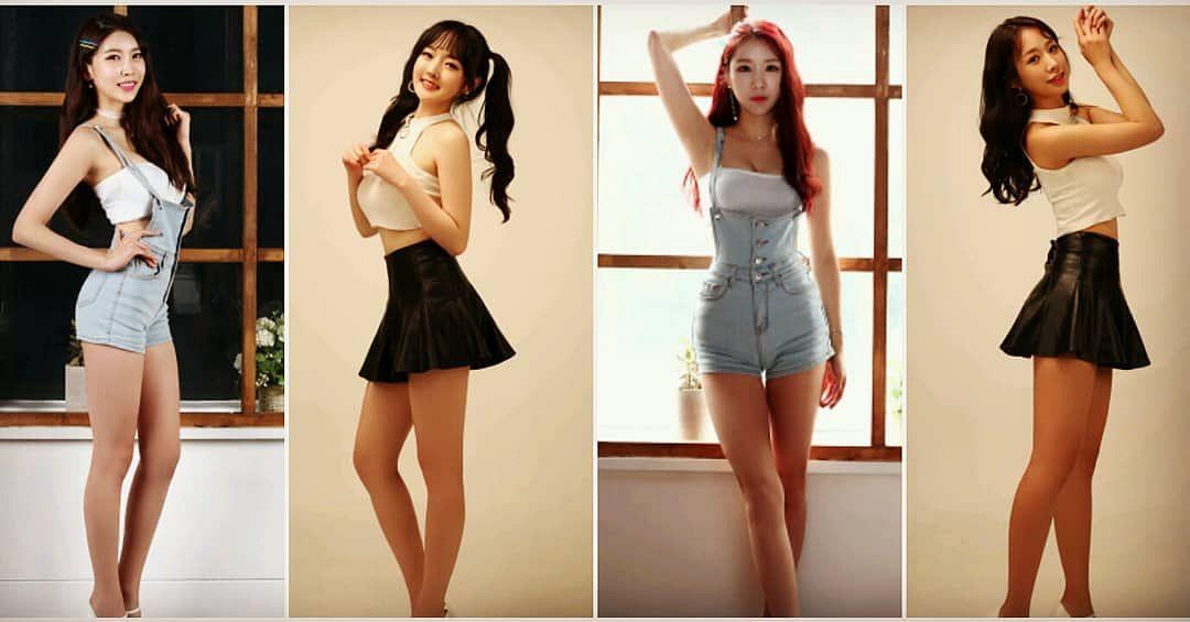 Tags: K-Pop, ICIA, Coca, Nayoon, Vandi, Youmin (ICIA), Twin Tails, Black Skirt, Red Hair, Quartet, Skirt, Four Girls