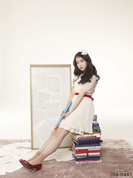 Tags: K-Pop, IU, White Dress, Book, White Outfit, IU 2012 Calendar, Android/iPhone Wallpaper