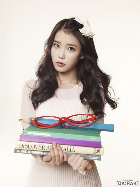 Tags: K-Pop, IU, White Dress, White Outfit, Light Background, Book, White Background, Glasses, Android/iPhone Wallpaper, IU 2012 Calendar