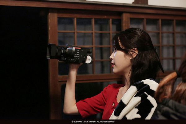 Tags: K-Pop, Through the Night, IU, Red Dress, Window, Night, Red Outfit, Palette