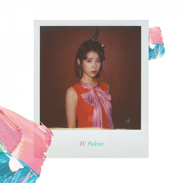 Tags: K-Pop, IU, Dress, Orange Outfit, Medium Hair, Orange Dress, Jewelry, Serious, Make Up, Earrings, Album Cover, Palette