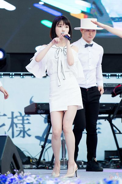 Tags: K-Pop, IU, High Heels, Microphone, White Outfit, Hat, Stage, Full Body, Dancing, White Dress, Android/iPhone Wallpaper