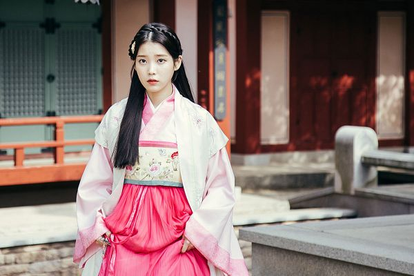 Tags: K-Pop, K-Drama, IU, Hanbok, Traditional Clothes, Hair Ornament, Korean Clothes, Pink Dress, Black Eyes, Serious, Pink Outfit, Moon Lovers: Scarlet Heart Ryeo