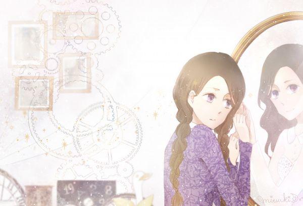 Tags: K-Pop, You & I, IU, Mirror, Glass, Purple Outfit, Twin Tails, Duo, Purple Dress, Two Girls, Fanart