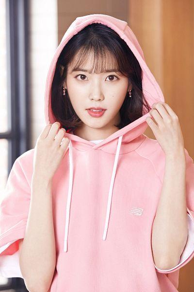 Tags: K-Pop, IU, Hood, Hoodie, Pink Outerwear, Medium Hair, New Balance