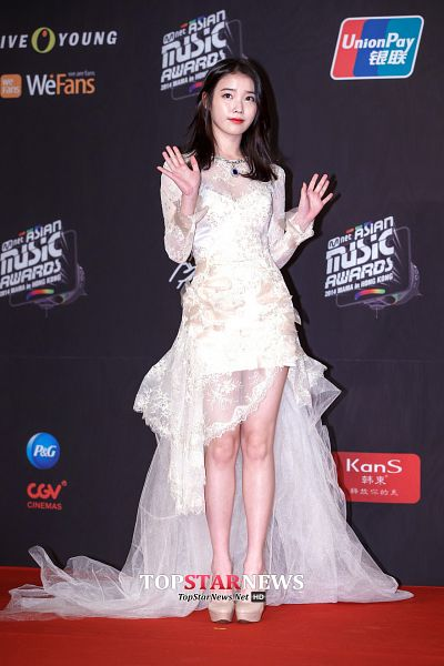 Tags: K-Pop, IU, Red Lips, Shoes, High Heels, Red Carpet, White Outfit, Veil, White Dress