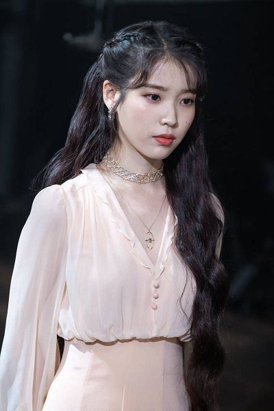 Tags: K-Drama, K-Pop, IU, Looking Down, Necklace, Serious, Mole, White Outfit, Night, White Dress, Facial Mark, Hotel Del Luna