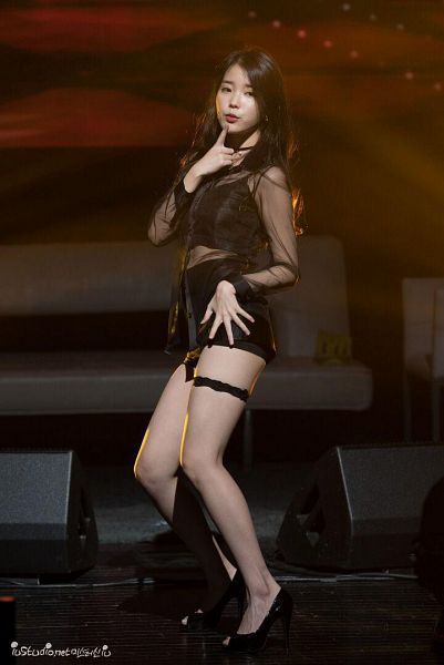 Tags: K-Pop, K-Drama, IU, Dancing, Legband, Black Outfit, The Producers
