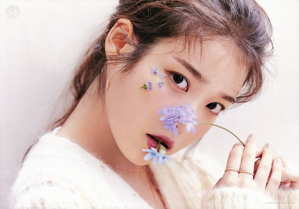 Tags: K-Pop, IU, Flower, Sweater, Purple Flower, Ring, Serious, The Present I