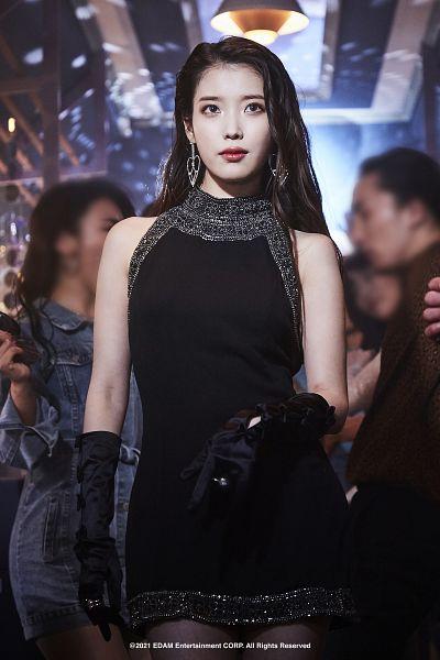 Tags: K-Pop, IU, Gloves, Sleeveless Dress, Black Gloves, Black Outfit, Long Gloves, Black Dress, Red Lips, Sleeveless, Bare Shoulders, Lilac