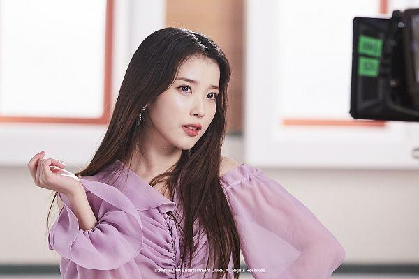 Tags: K-Pop, IU, Purple Shirt, Lilac, HD Wallpaper, Wallpaper