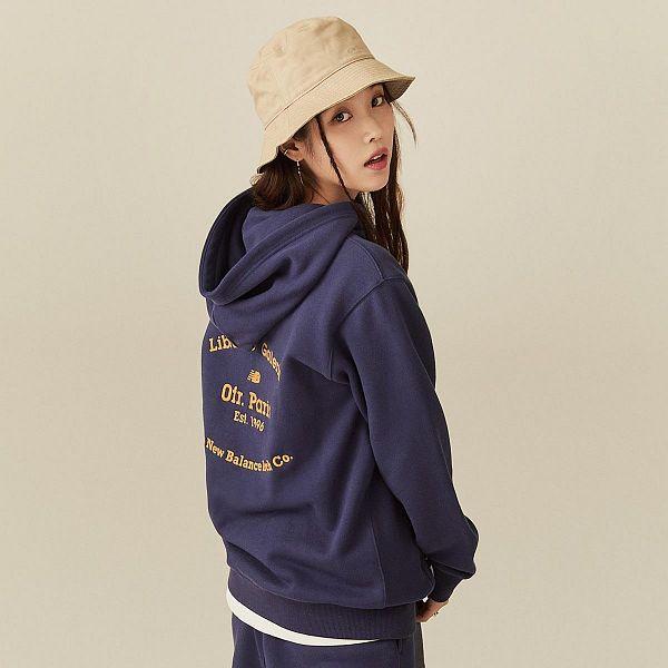 Tags: K-Pop, IU, Hat, Blue Shirt, Jumpsuit, Brown Background, Hood, Serious, Hoodie, New Balance