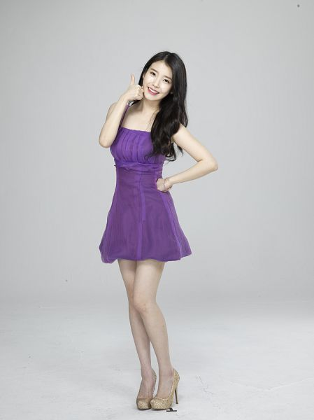 Tags: K-Pop, IU, Ring, Purple Outfit, Bracelet, Gray Background, Facial Mark, Purple Dress, Mole, Android/iPhone Wallpaper, Cable TV