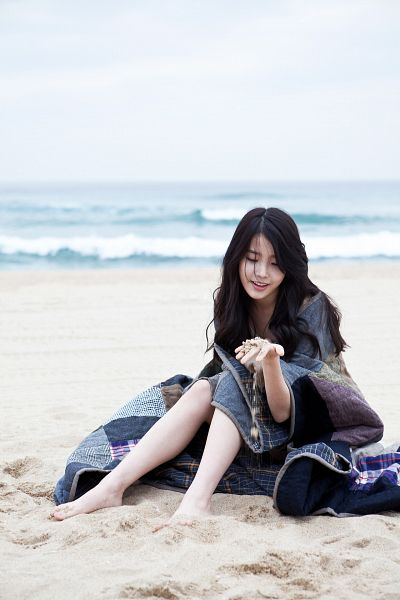 Tags: K-Pop, IU, Barefoot, Water, Eyes Closed, Sand, Wave, Sitting On Ground, Sea, Blanket, Outdoors, Beach