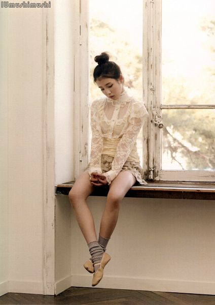 Tags: K-Pop, Good Day, IU, Hair Up, Shoes, Ballet, Window, Looking Ahead, Looking Down, Hair Buns, Ballet Shoes, Single Bun