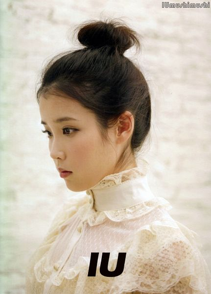 Tags: K-Pop, Good Day, IU, Hair Buns, Text: Artist Name, Hair Up, Single Bun, Android/iPhone Wallpaper