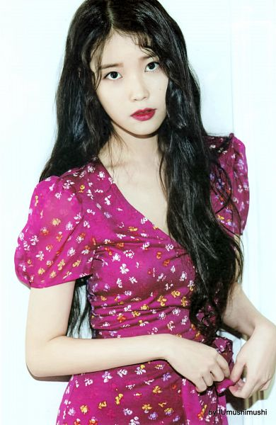Tags: K-Pop, IU, Pink Dress, Pink Outfit, Red Lips, Android/iPhone Wallpaper, IU 2016 Calendar