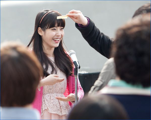 Tags: K-Pop, IU, Laughing, Pink Outerwear, Nongshim Noodles