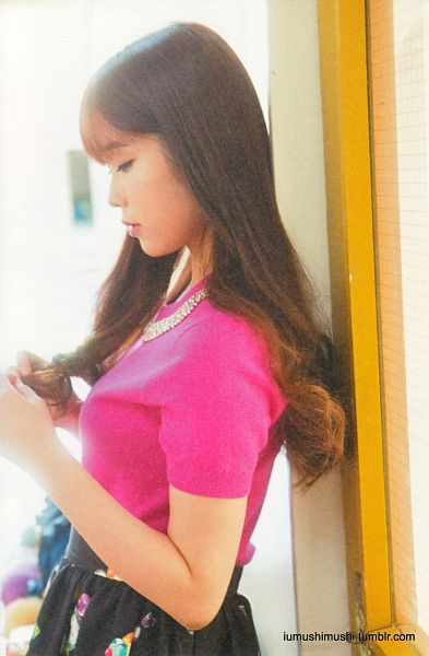 Tags: K-Pop, IU, Side View, Pink Shirt, Necklace, Short Sleeves, Android/iPhone Wallpaper, IU Love One Photobook