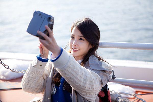 Tags: K-Pop, Last Fantasy (Song), IU, Hoodie, Water, Camera, Fence, Last Fantasy, Wallpaper