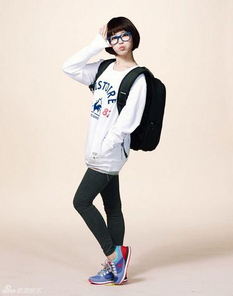 Tags: K-Pop, IU, Glasses, Bag, Backpack, Hand In Pocket, Le Coq Sportif