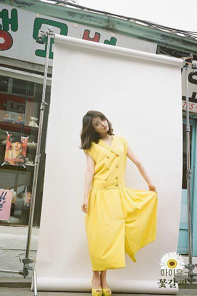 Tags: K-Pop, IU, Medium Hair, Yellow Outfit, Yellow Dress, Flower Bookmark