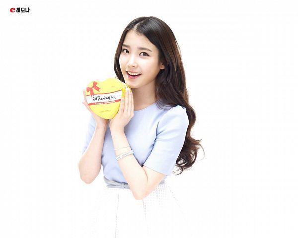 Tags: K-Pop, IU, White Background, Bracelet, Blue Shirt, Skirt, Box, Light Background, White Skirt, Lemona
