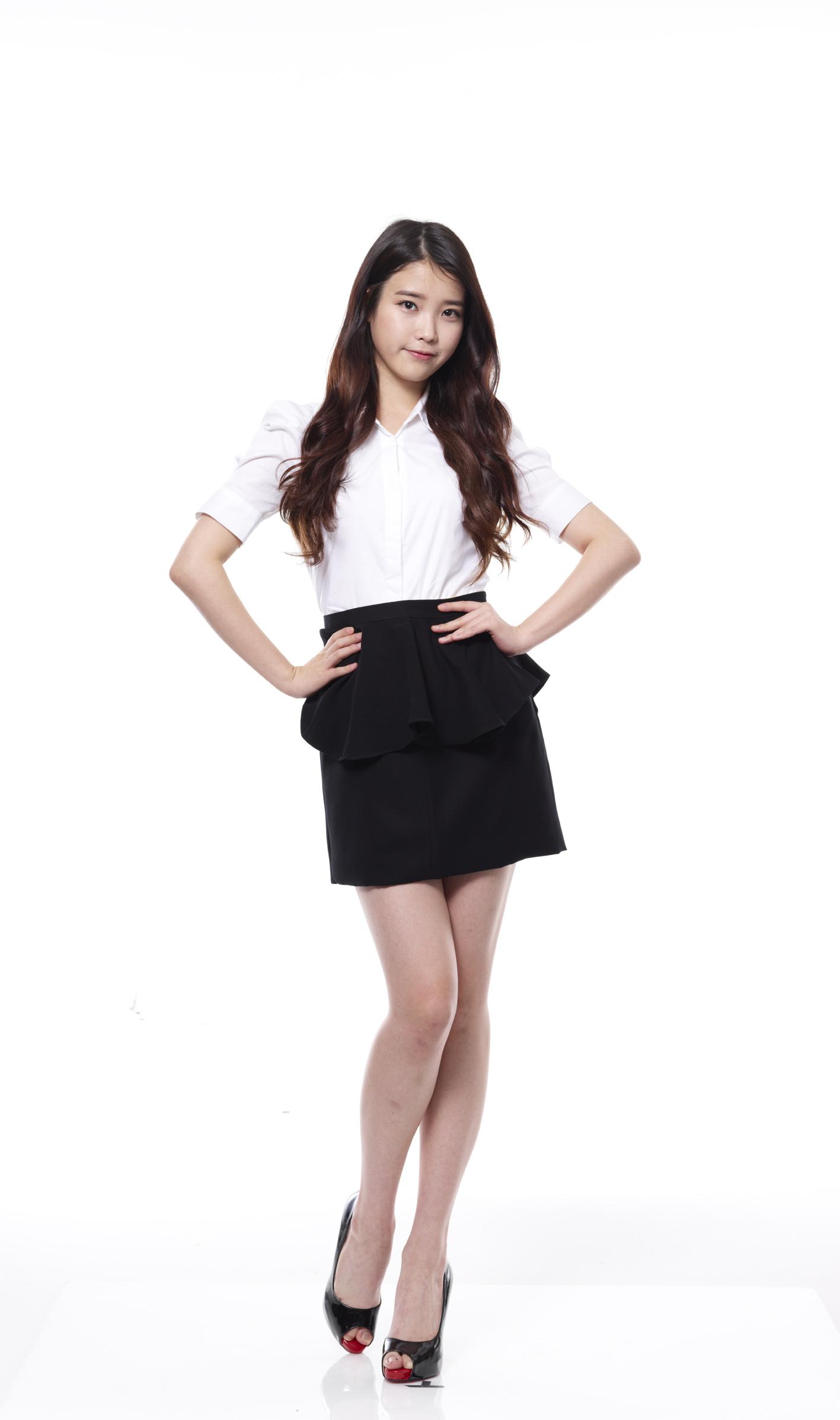 tags k pop iu full body black skirt standing