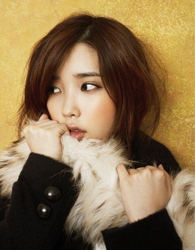 Tags: K-Pop, IU, Fur, Yellow Background, Fur Trim, Looking Away, Coat, Ysb