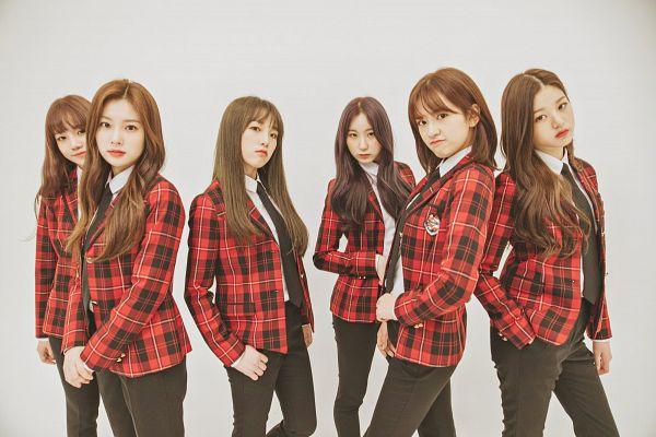 Tags: K-Pop, IZ*ONE, Choi Yena, Kang Hyewon, Jo Yuri, Jang Wonyoung, Ahn Yujin, Lee Chaeyeon, Serious, White Background, Red Jacket, Hand In Pocket