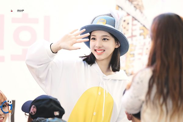 Tags: JYP Entertainment, K-Pop, Twice, Im Nayeon, Wave, Hat, Looking Ahead, Animal Outfit, Wallpaper, Fansigning Event