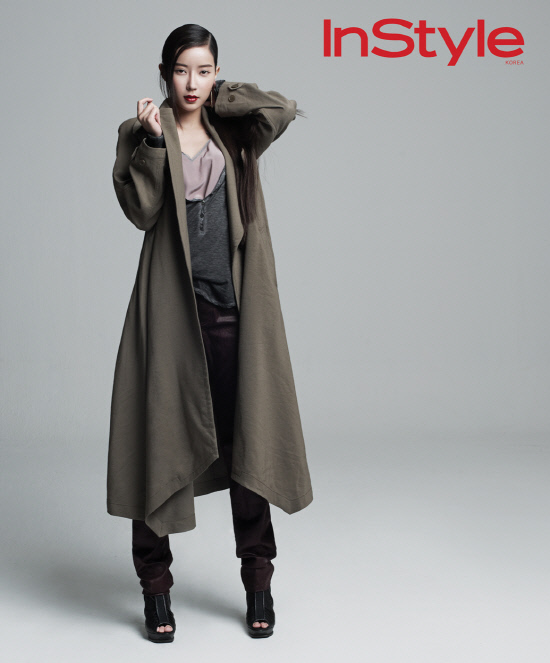 Tags: K-Drama, Im Soo-hyang, Red Lips, Coat, Sandals, Magazine Scan, InStyle